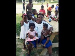 Jennifer Wright with her grandchildren.