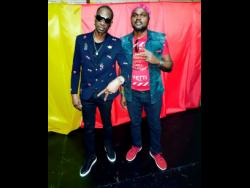 Veteran artistes Bounty Killer (left) and Angel Doolas have a good relationship both on and off stage, creating some of the best '90s dancehall tunes together.