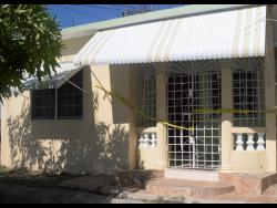 The home where McKenzie and Easy lived in Greater Portmore.