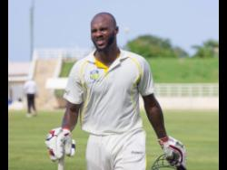 Jermaine Blackwood ... hit seven fours in his 132-ball knock of 59.