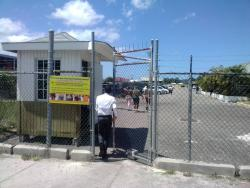 The main entrance to the Montego Bay Freezone community in Freeport, Montego Bay, St James.