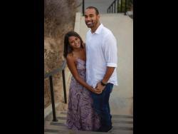 Gabrielle Leslie and her groom-to-be, John Osborne.