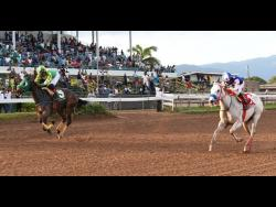 Horse racing at the Caymanas Park racetrack in St Catherine on January 4, 2020.