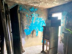 Photos By Akera Davis A section of the home that was ravaged by fire.