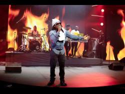 Frisco Kid performing at Reggae Sumfest on Friday night.