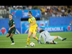 FILE Havana Solaun dribbles the ball against Australia during last summer's FIFA Women's World Cup in France.