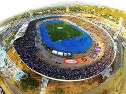 An aerial view of the National Stadium, where the Hurdles Crew Jamaica volunteers at track and field meets such as the ISSA/GraceKennedy Boys and Girls Athletics Championships each year.