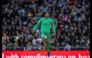 Real Madrid's Sergio Ramos controls the ball during a Spanish La Liga match between Real Madrid and RCD Espanyol at the Santiago Bernabeu stadium in Madrid last Saturday.