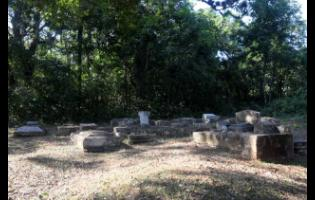 Some of the graves that will have to be moved to facilitate the highway.