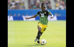 Young Reggae Girl Jody Brown in action.