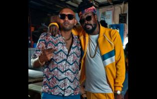 Cruz Rock (left) and Beenie Man.
