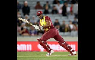 West Indies Twenty20 International captain Kieron Pollard during their first match against hosts New Zealand at Mount Maunganui on November 27, 2020.