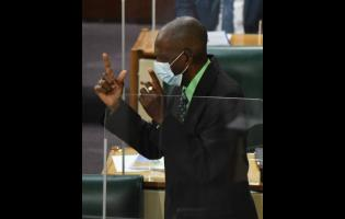 J.C. Hutchinson, the member of parliament for St Elizabeth North West, opening the State of the Constituency Debate in the House of Representatives on Tuesday.