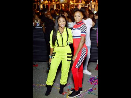 Social media influencers and fashionable sisters Sue Ann and Shamieka Gordon were sure to turn heads in their outfits for East.
