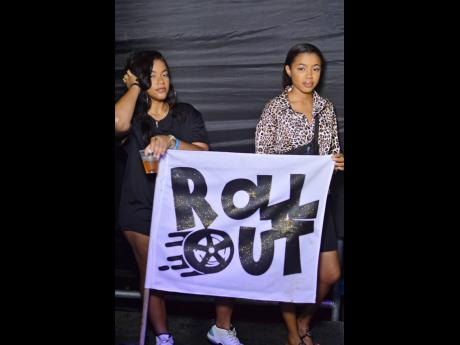 Sarah and Celle were busy promoting a party called 'Roll Out'.