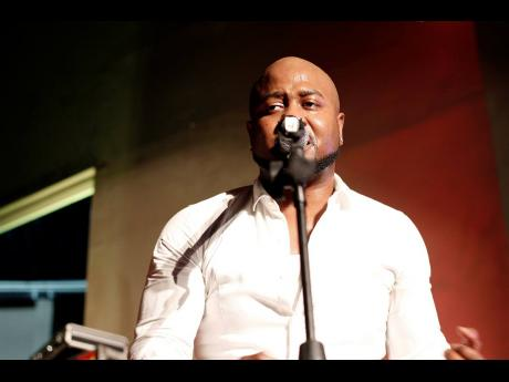 Dancehall artiste-producer Serani gets emotional during his performance at Tracks Live Sessions last Thursday.