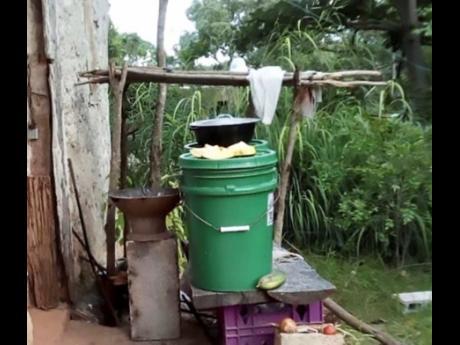 Karen's outdoor kitchen.