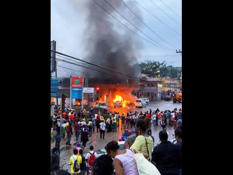 The popular Heaven's FESCO Gas Station in Mandeville, Manchester, was razed after a series of explosions.
