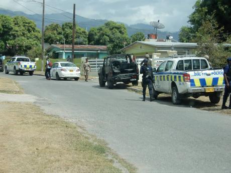 Police on Carisle Avenue.