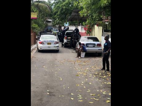 Police in Plum Lane.