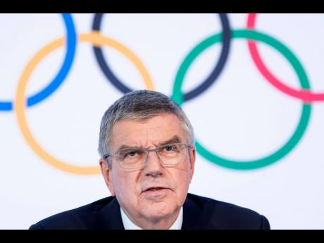 International Olympic Committee (IOC) president Thomas Bach from Germany speaks during a press conference after the executive board meeting of the International Olympic Committee (IOC), at the Olympic House, in Lausanne, Switzerland, Wednesday, March 4, 2020.