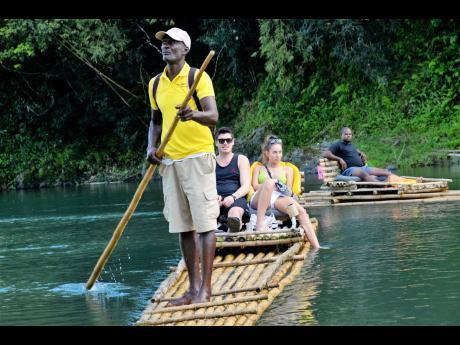 Tourist rafting on the Rio Grande in Portland.