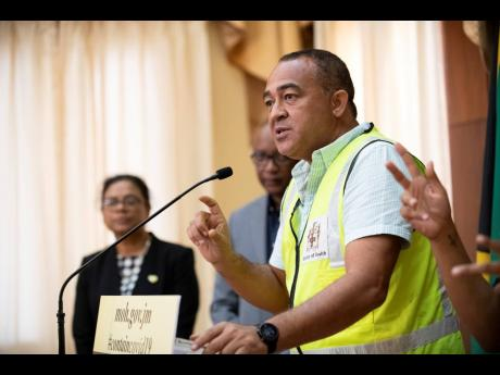 Dr Christopher Tufton, minister of health and wellness.