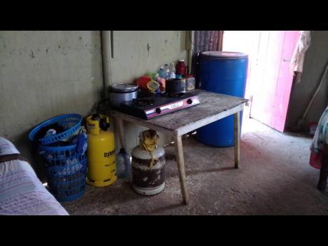 Williams' modest kitchen.