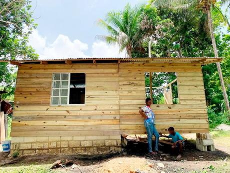 The home that Jackson is helping to build for a family of five.