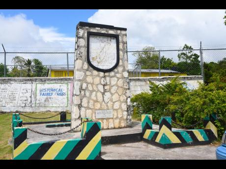 This monument in Sturge Town, St Ann, tells the story of the community, which is Jamaica's second free village.