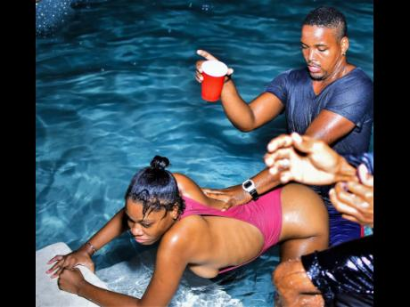 What is a pool party without some action?
