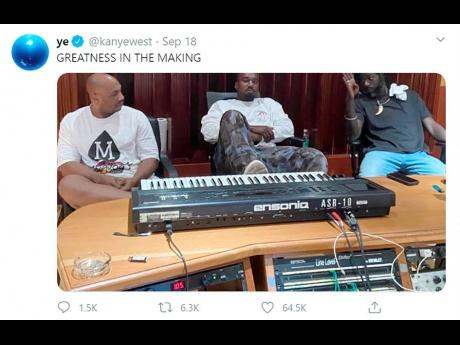 A screen grab from Kanye West's Twitter page on Friday.
