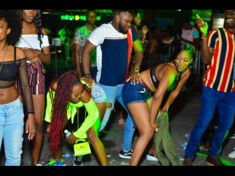 Patrons having fun at Strictly 2K, Best the 2000s, a dancehall party held at Mas Camp, on December 28, 2019.